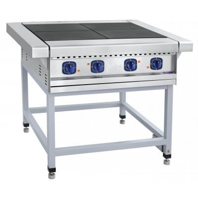 Плита электрическая четырехконфорочная без жарочного шкафа ЭП-4П на подставке