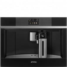 SMEG CMS4104N Автоматическая кофемашина, 60 см, высота 45 см, черное стекло + нержавеющая сталь