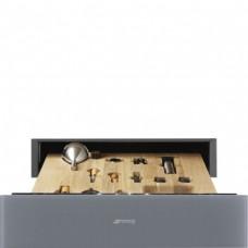 SMEG CPS115S Ящик сомелье, 60 см, высота 14 см, серебристое стекло Stopsol, открывание PUSH.