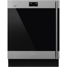 SMEG CVI338LX3 Холодильный шкаф для вина встраиваемый, высота 82 см, петли слева, нержавеющая сталь.