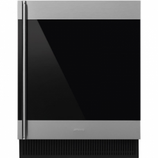 SMEG CVI338RX3 Холодильный шкаф для вина встраиваемый, высота 82 см, петли справа, нержавеющая сталь.
