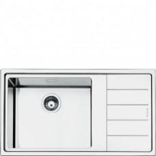 SMEG LFTG861D Мойка. Установка с бортиком 1 мм, необорачиваемая, нержавеющая сталь матовая, крыло справа