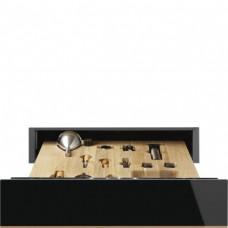 SMEG CPS615NR Ящик сомелье, 60 см, высота 14 см, черное стекло, медный профиль