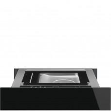SMEG CPV615NX Вакууматор, 60 см, высота 14 см, черное стекло Eclipse, профиль нержавеющая сталь, открывание PUSH.