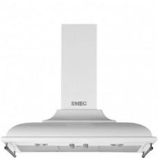 SMEG KC19BSE Вытяжка настенная,89,5 см, белая, фурнитура состаренное серебро