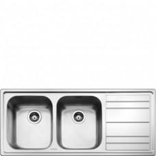 SMEG LEH116D Мойка. Установка с бортиком 4 мм, необорачиваемая, крыло справа