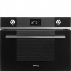 SMEG SF4102VCN Компактный духовой шкаф, комбинированный с пароваркой,60 см, высота 45 см, 14 функций, черное стекло.