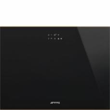 SMEG CVI621RWNR3 Холодильный шкаф для вина встраиваемый, высота 45 см, петли справа, черное стекло.