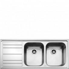 SMEG LEH116S Мойка. Установка с бортиком 4 мм, необорачиваемая, крыло слева