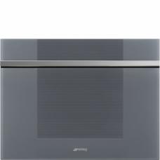 SMEG CVI118RWS2 Холодильный шкаф для вина встраиваемый, 45 см, петли справа, серебристое стекло Stopsol. Дверь перенавешиваемая