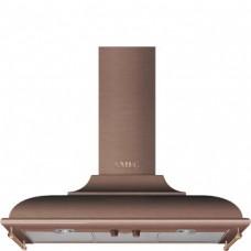 SMEG KC19RAE Вытяжка настенная,89,5 см, цвет медный, фурнитура полированная медь