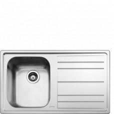 SMEG LEH861D Мойка. Установка с бортиком 4 мм, необорачиваемая, крыло справа