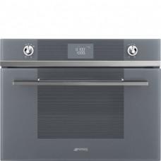 SMEG SF4102MS Компактная микроволновая печь, 60 см, высота 45 см, 4 функций, серебристое стекло Stopsol.