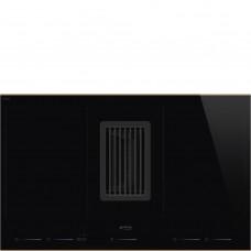 SMEG HOBD682R Индукционная варочная панель со встроенной вытяжкой, 80 см, Multizone, профиль медный, прямой край