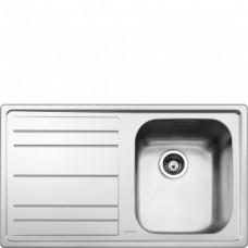 SMEG LEH861S Мойка. Установка с бортиком 4 мм, необорачиваемая, крыло слева